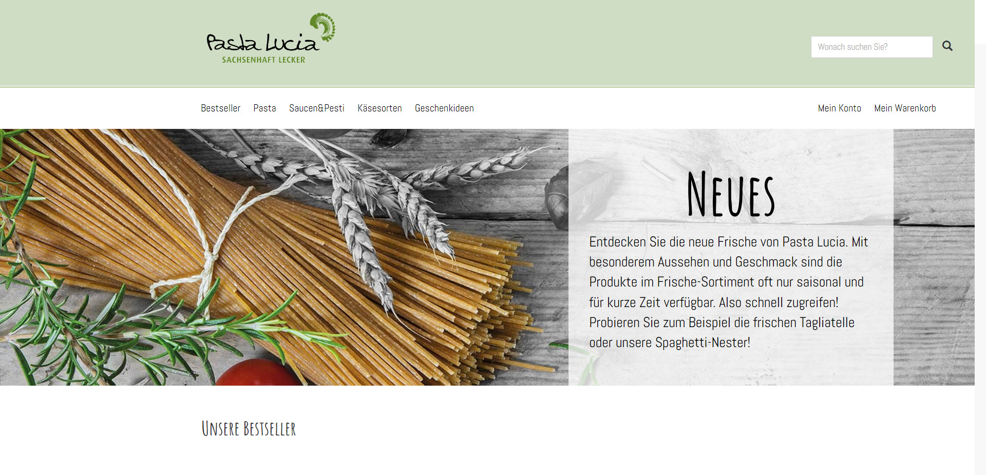 Webentwicklung-Pasta-lucia-Onlineshop-website